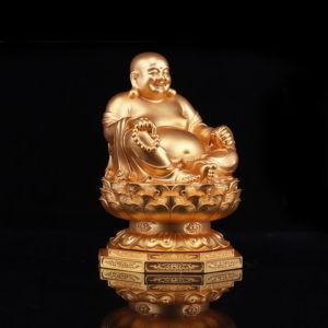 弥勒佛塑像 金色铜像