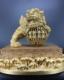 铜雕舞狮,熔模铸造